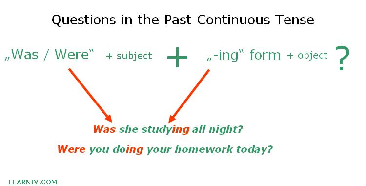 Past Continuous Question Construction